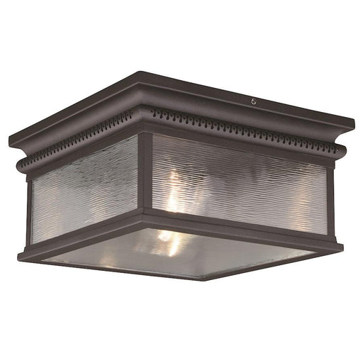 Vaxcel Cambridge 2 Light Outdoor Flush Mount, Oil Rubbed Bronze