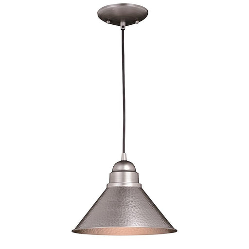 Vaxcel Outland 1 Light Outdoor Pendant Light, Brushed Pewter