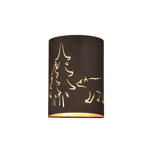 Vaxcel Katmai 2 Light Wall Sconce, Noble Bronze/Inner Brass Gold