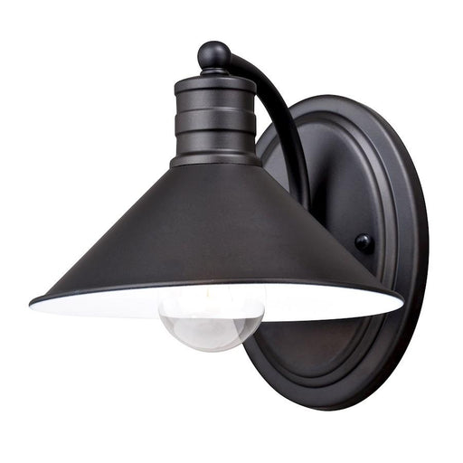 Vaxcel Akron 1 Light Vanity, Oil Rubbed Bronze/Inner Matte White
