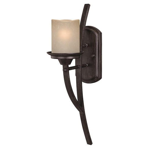 Vaxcel Halifax 1 Light Wall Sconce, Black Walnut