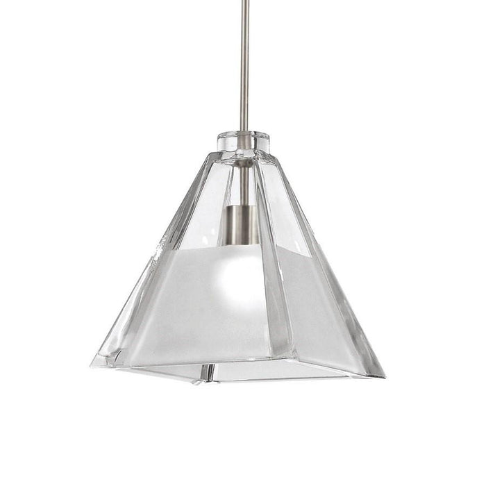 WAC Lighting Tikal Pendant, Clear Frosted Glass