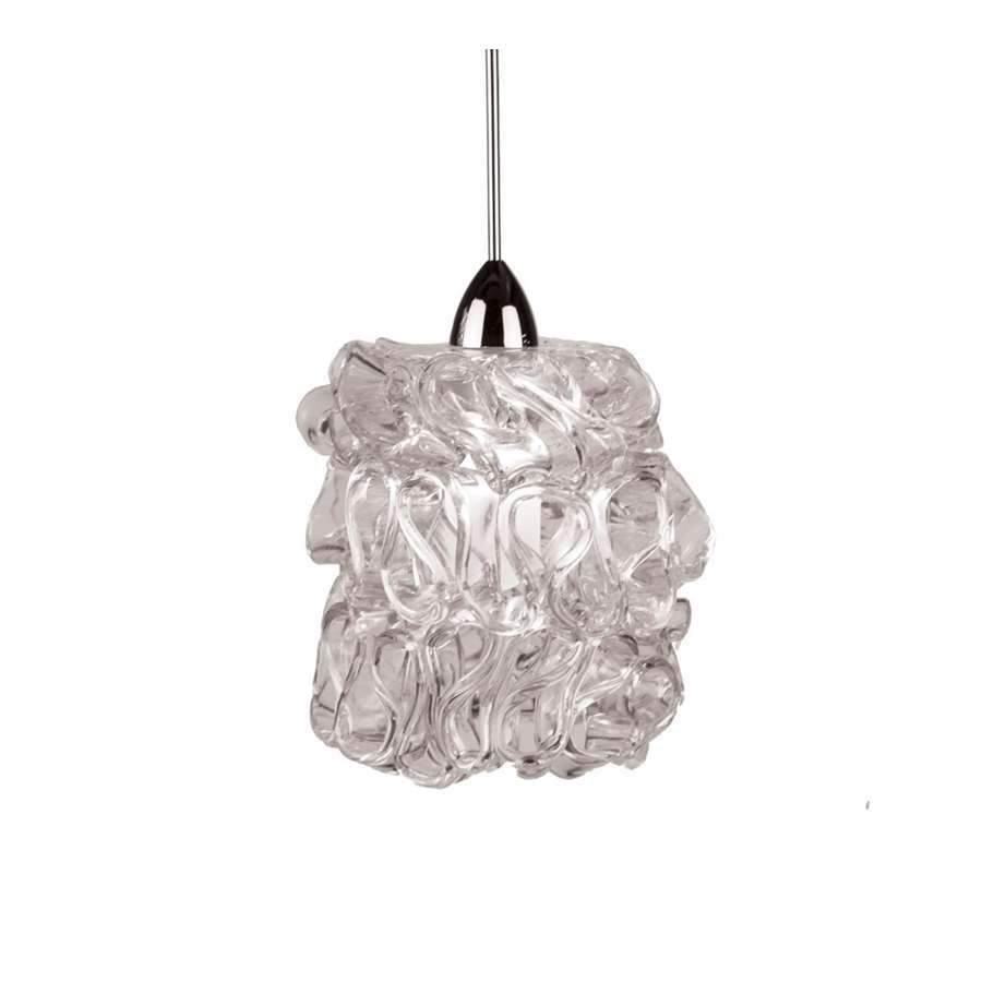 WAC Lighting Candy LED Clear Pendant, Brushed Nickel