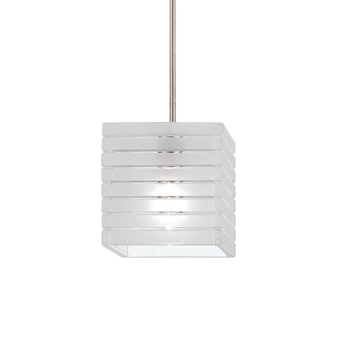 WAC Lighting Tulum Quick Connect Pendant, Frosted/Nickel