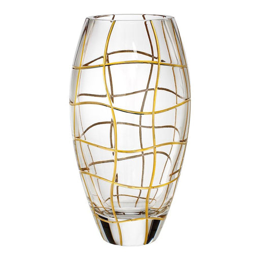 "Rogaska Magic Night Vase 12"" Gold"