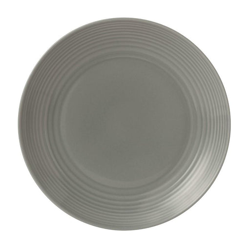 Gordon Ramsay by Royal Doulton Maze Dark Grey Dinner Plate