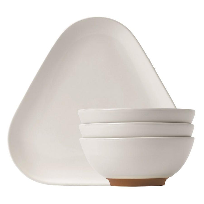 Barber and Osgerby for Royal Doulton Olio White Tray and Bowls Snack Set