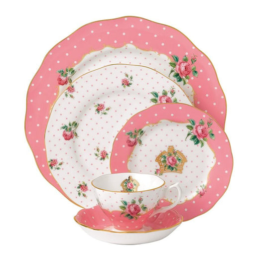 Royal Albert Cheeky Pink Vintage 5-Piece Place Setting