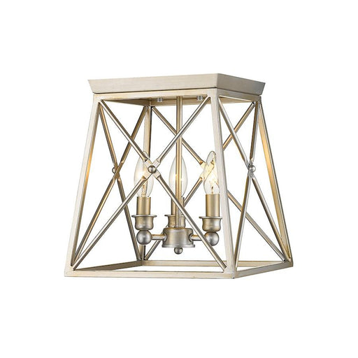 Z-Lite Trestle 3 Light Flush Mount