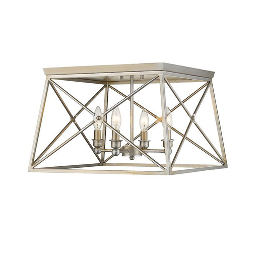 Z-Lite Trestle 4 Light Flush Mount