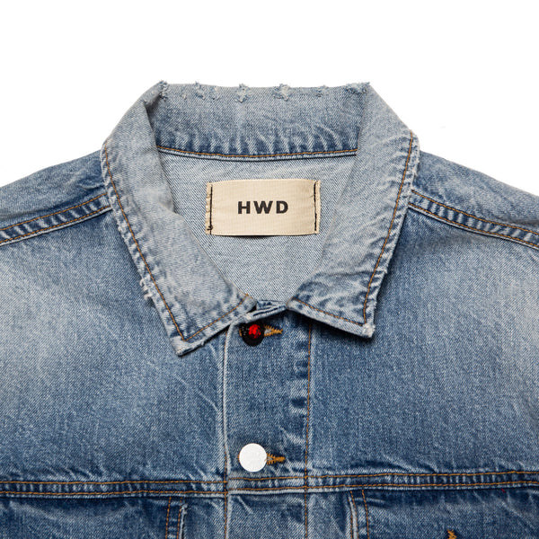 Destroyed Washed Denim Jacket