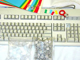 Ivory Relegendable Keyboard - DIY Change Keytops Set