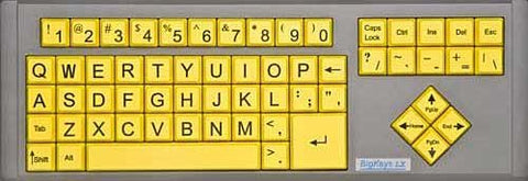 Large Keys Keyboard - BigKeys LX in Yellow