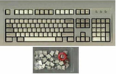 Grey Typing Keyboard with Blank Keys