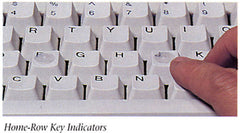 Typing Keyboard Home Row Bumps
