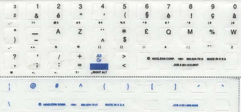 Belgian Language Keyboard Label Sticker Kit