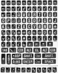 Braille & Large Print White/Black Label Stickers for Keyboard