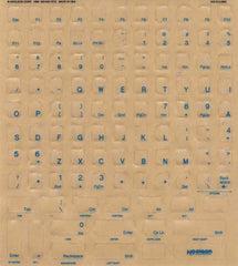 English US Language Keyboard Blue Label Sticker Kit