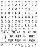 Braille & Large Print White Sticker Labels With Black Print for Keyboard
