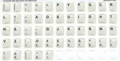 Dedicated Dvorak Label Kit Stickers for Ivory Keys