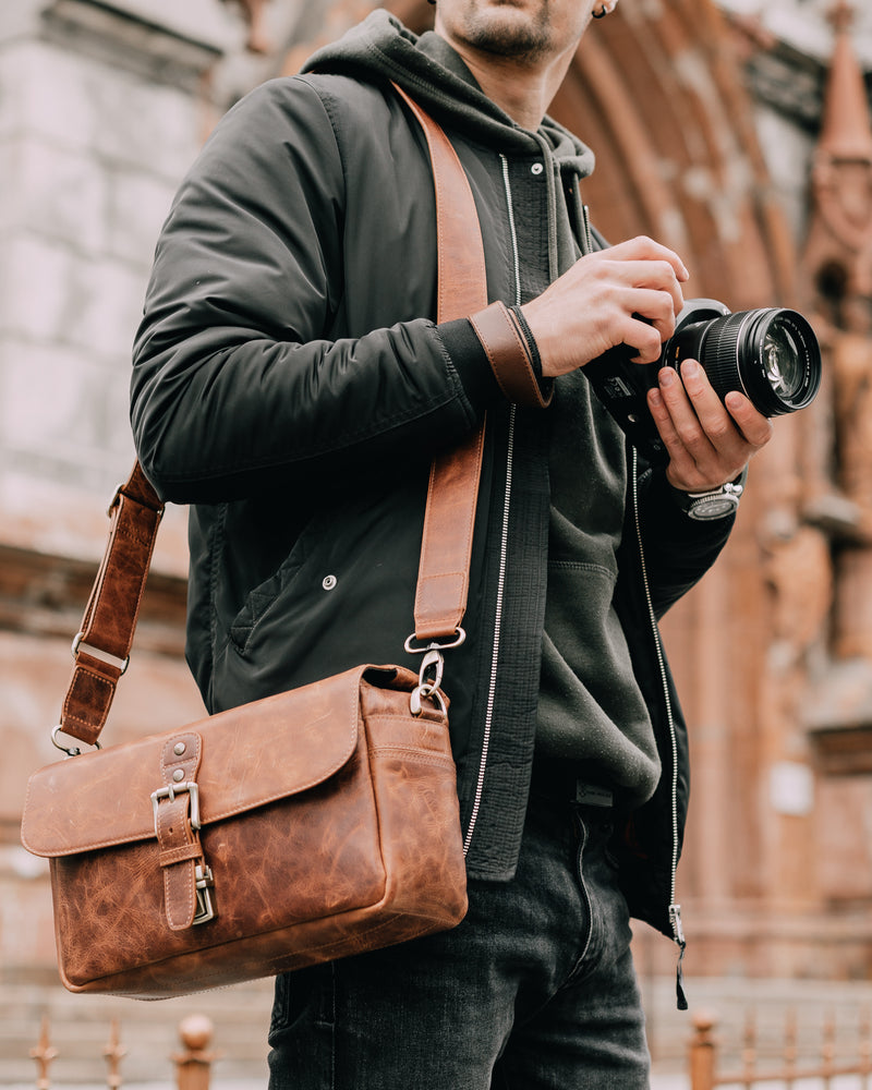 camera messenger bag leather case
