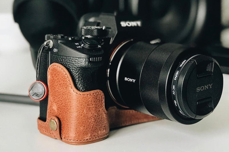 high quality leather case made genuine and cow leather fit to dslr slr camera