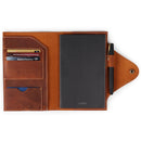 Personalized Fine Leather Portfolio with Notepad (Snap Closure & Lock)-Camel-1