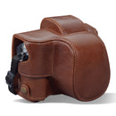 MegaGear Olympus OM-D E-M10 Mark IV Ever Ready Genuine Leather Camera Case, Bag and Accessories - Brown-1
