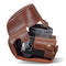 MegaGear Olympus OM-D E-M10 Mark IV Ever Ready Genuine Leather Camera Case, Bag and Accessories - Brown-3