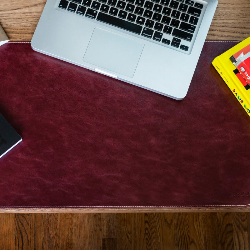 Londo Top Grain Leather Extended Mouse Pad