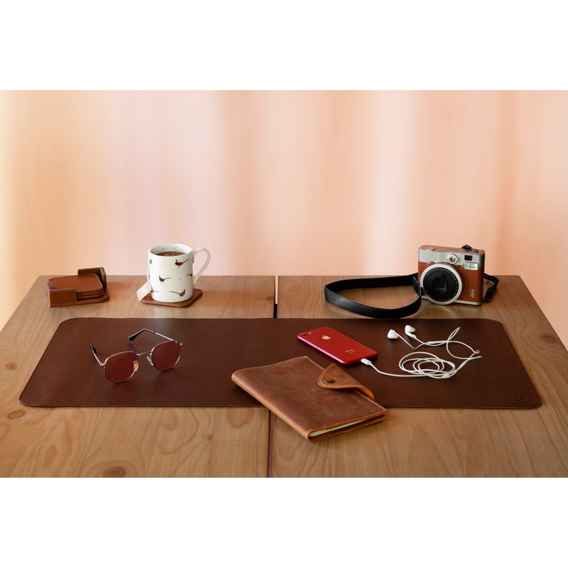 Londo Top Grain Leather Extended Mouse Pad, Leather Office Desk Mat, Desk Pad Protector