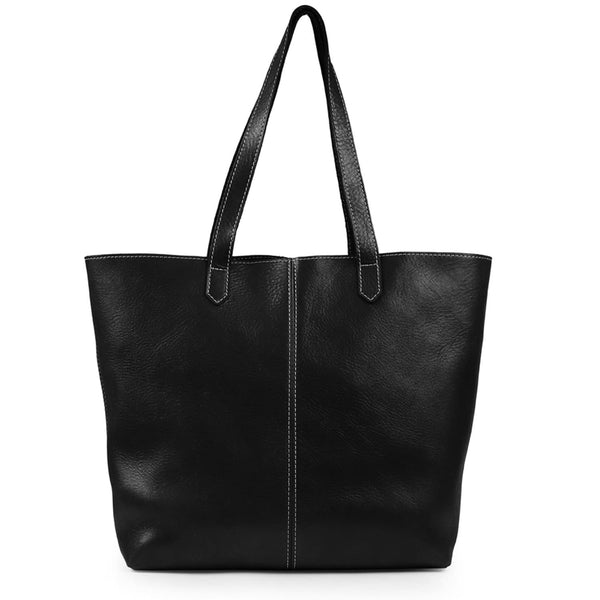 Londo Carmel Leather Tote Bag - Black