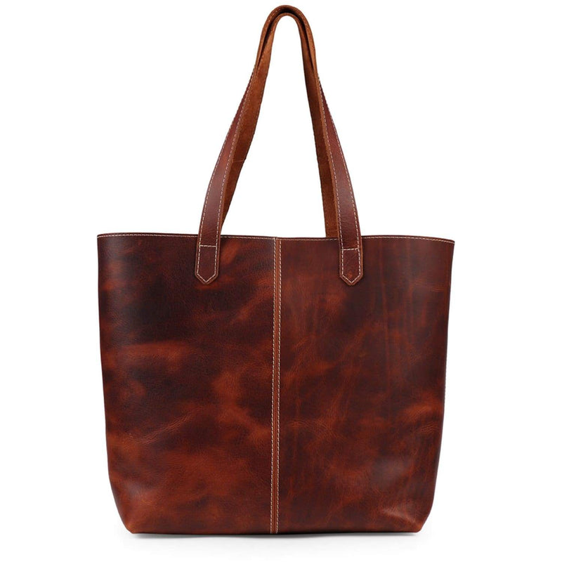 Londo Carmel Leather Tote Bag - Brown