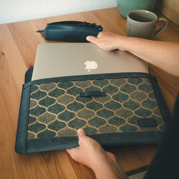Londo Fine Leather Sleeve Bohemian Bag for MacBook Pro Air
