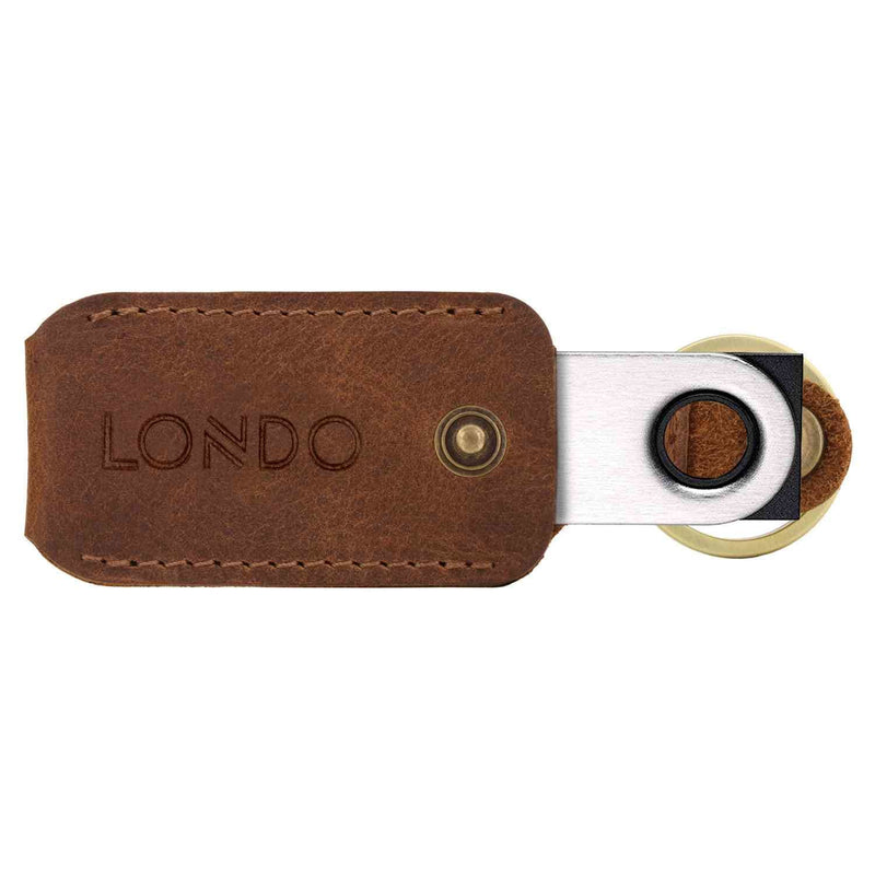 Londo Genuine Leather Case with Keyring for Ledger Nano S