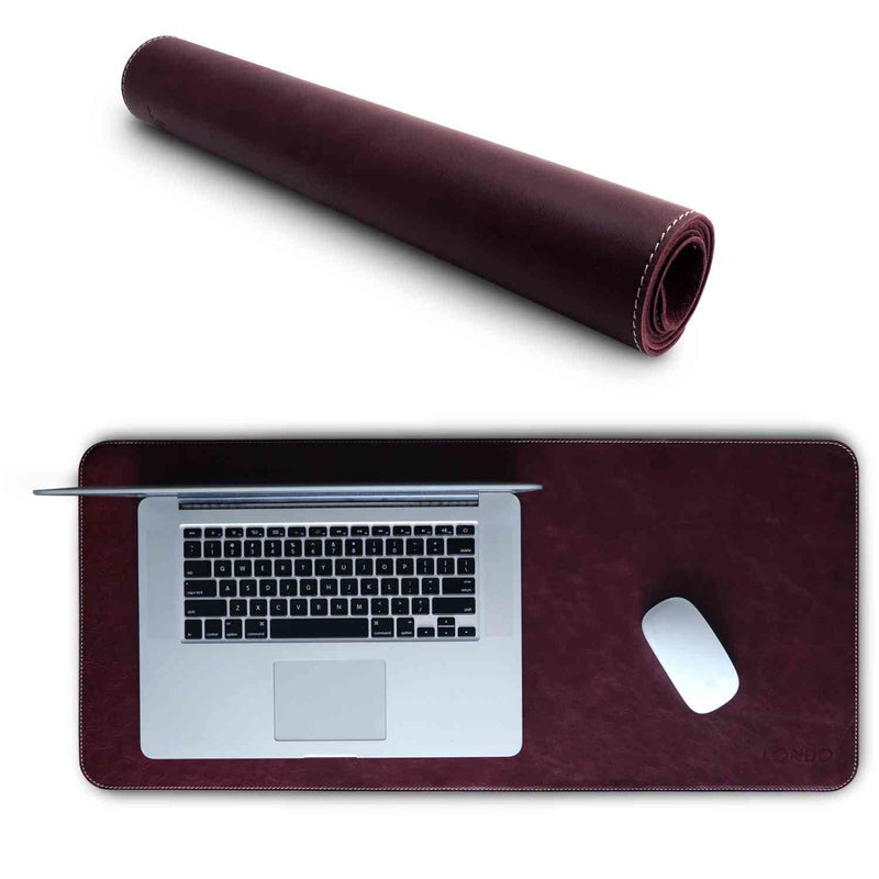 Londo Genuine Leather Extended Mouse Pad - Damson