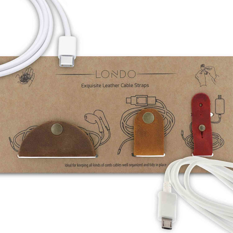 Londo Genuine Leather Headphone Earphone and General Cable