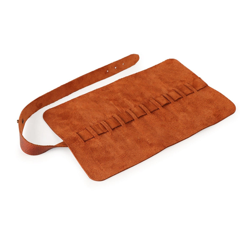 Londo Genuine Leather Pen and Pencil Roll Case