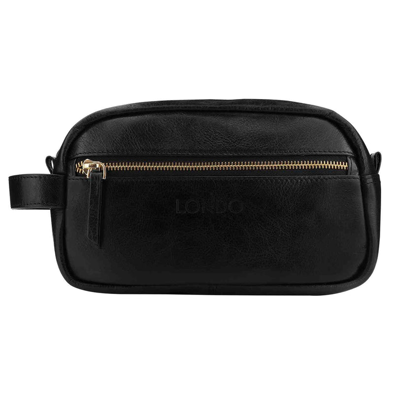 Londo Genuine Leather Travel Toiletry Dopp Kits Makeup