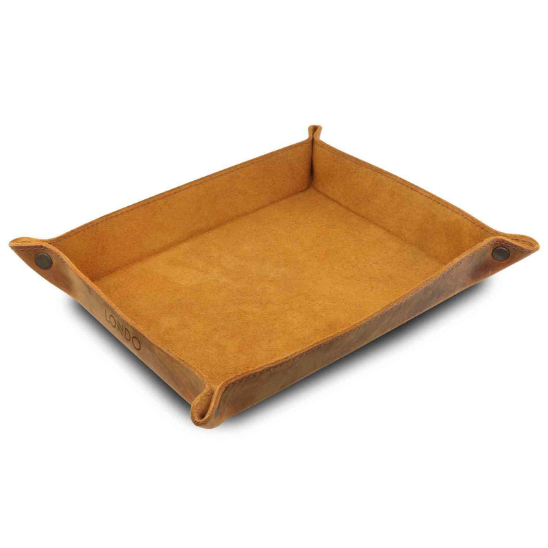 Londo Genuine Leather Tray Organizer - Practical Storage Box