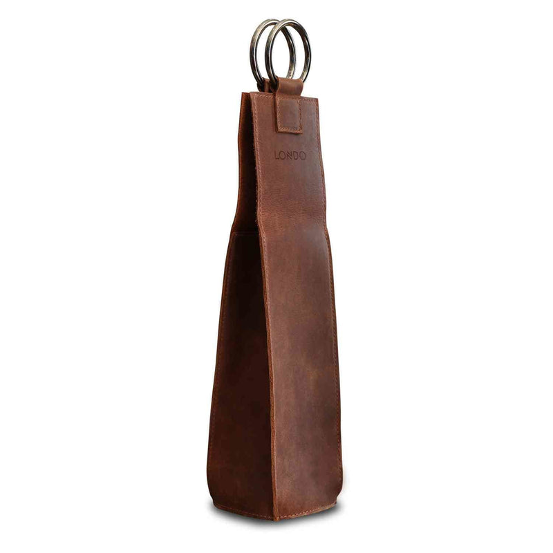 Londo Genuine Leather Wine Bottle Holder and Carrier