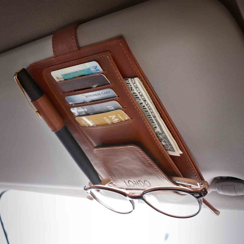 Londo Leather Car Visor Organizer