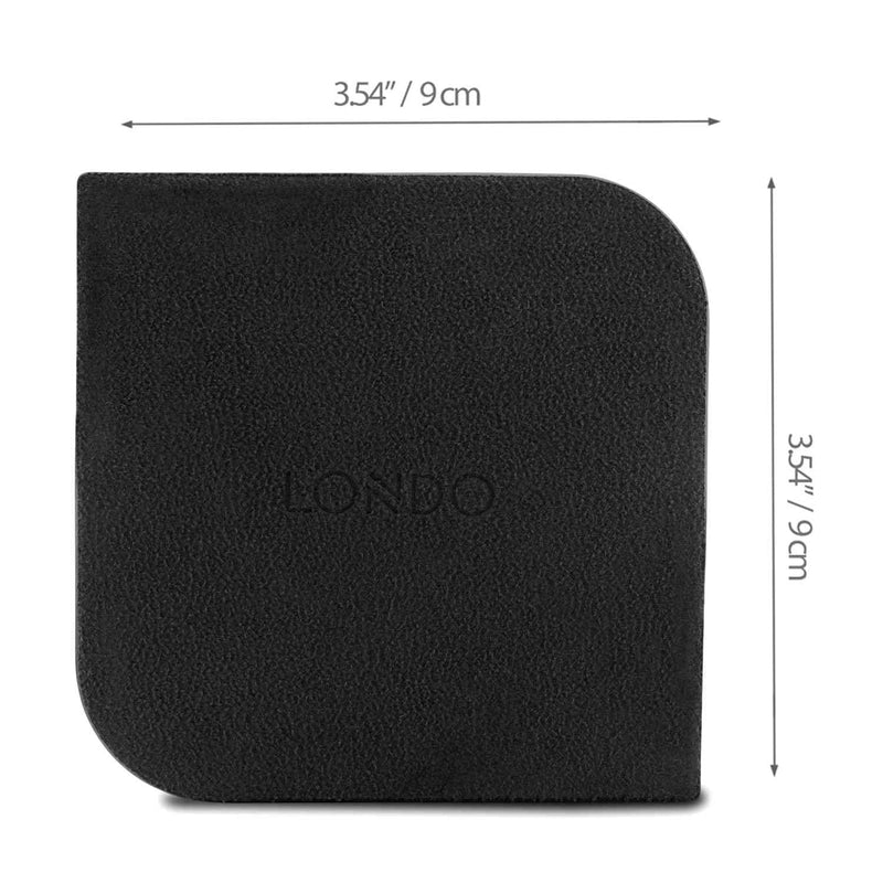 Londo Leather Coasters (Set of 4) - Non-Slip Surface