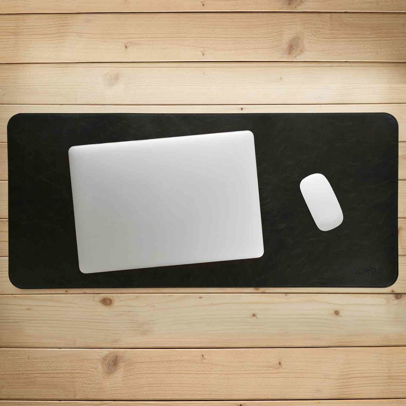 Londo Leather Extended Mouse Pad - Office Desk Mat -