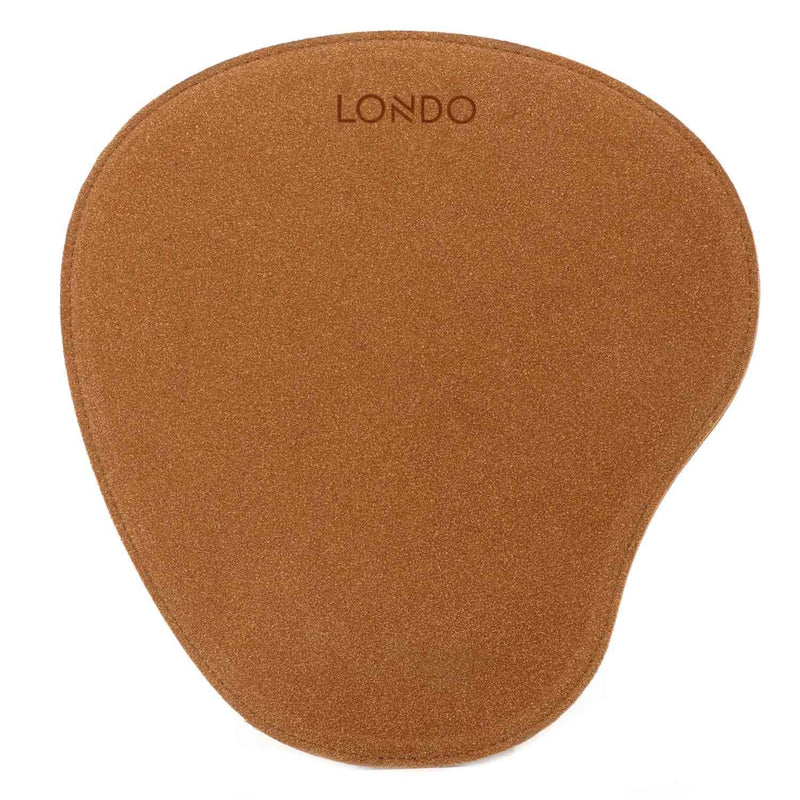 Londo Leather Oval Mouse Pad with Wrist Rest