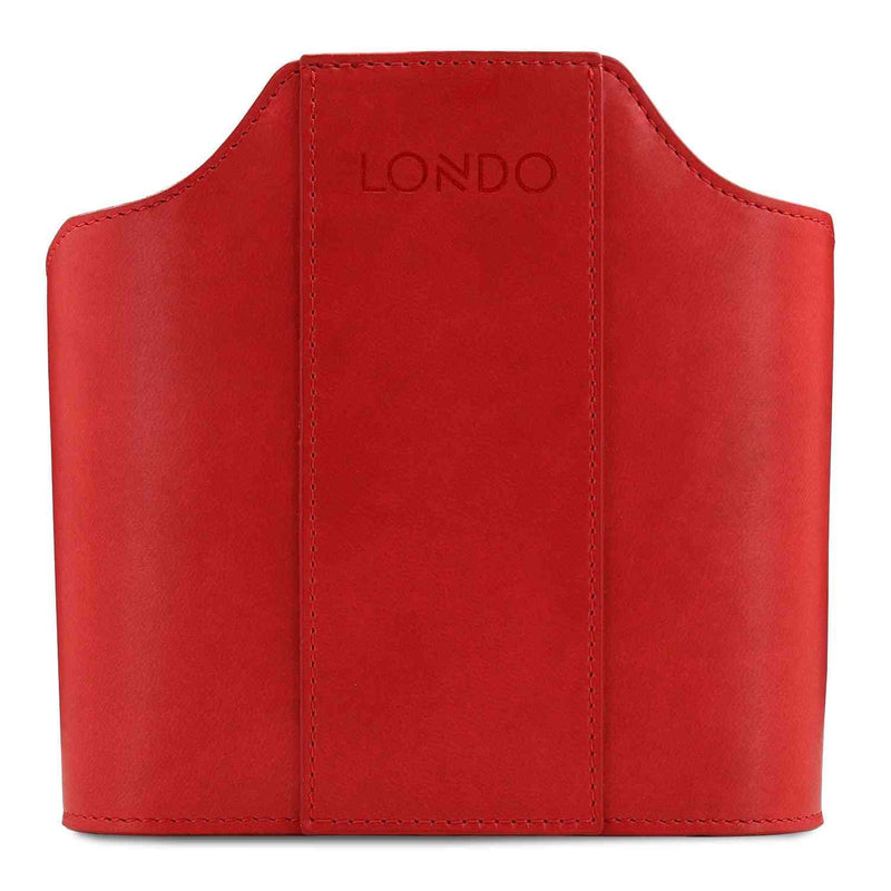 Londo Leather Remote Control Organizer and Caddy with Tablet