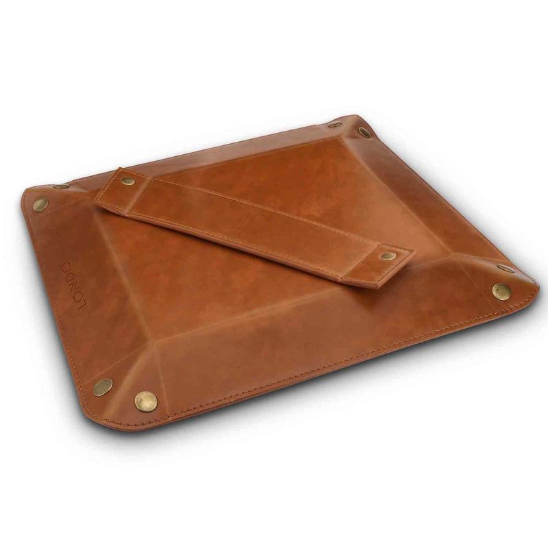 Londo Leather Tray Organizer - Practical Storage Box for