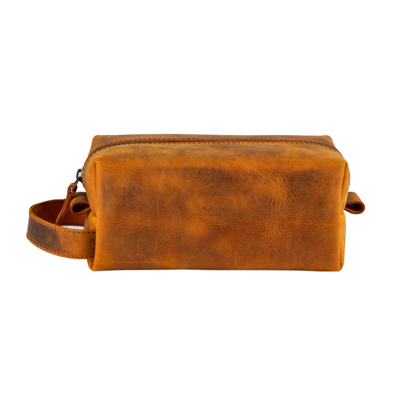 Londo Real Cowhide Leather Travel Bag - Dopp Kit