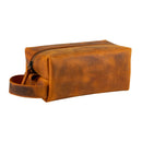 Londo Real Cowhide Leather Travel Bag - Dopp Kit - Camel