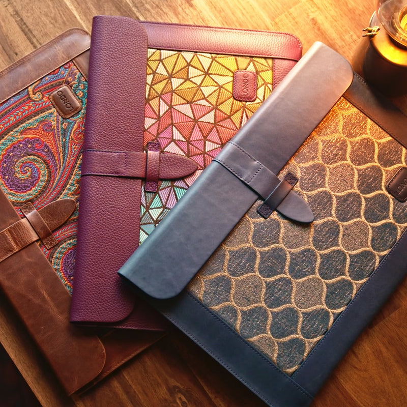 Londo Top Grain Leather Sleeve, Bohemian Bag for MacBook Pro, MacBook Air and iPad Case